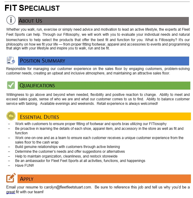 Fit Specialist